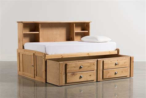 Roomsaver Bed by Summit Caramel Roomsaver Bed W 2 Drawer Captain