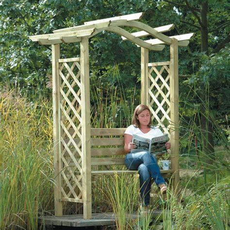 garden arch with bench arches arbours garden furniture in hertfordshire buckinghamshire