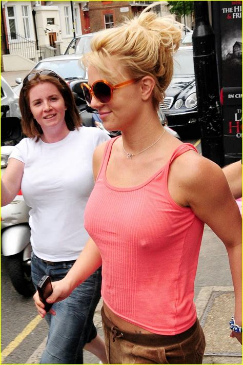 Britneys Bra Showing by Does Not Like The Bra