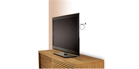 flat panel safety kit secure attach tv to wall w wire