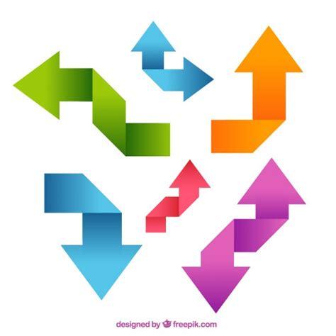 editar imagenes con vectores flechas de colores origami descargar vectores gratis