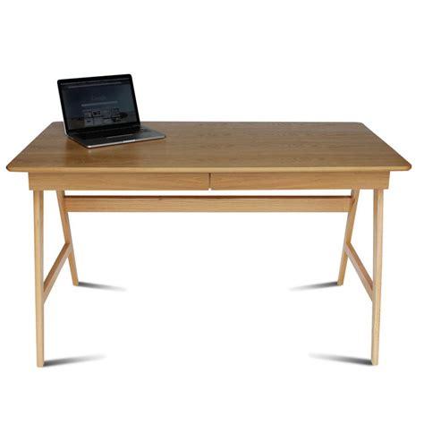 bureau gris laqu bureau laqu 233 blanc ou gris et bois skoll look scandinave