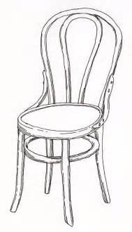 stuhl zeichnung pen pencil paper draw contour drawing of a chair