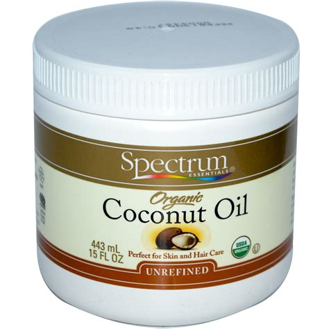 skin coconut spectrum essentials organic coconut unrefined 15 fl oz 443 ml iherb
