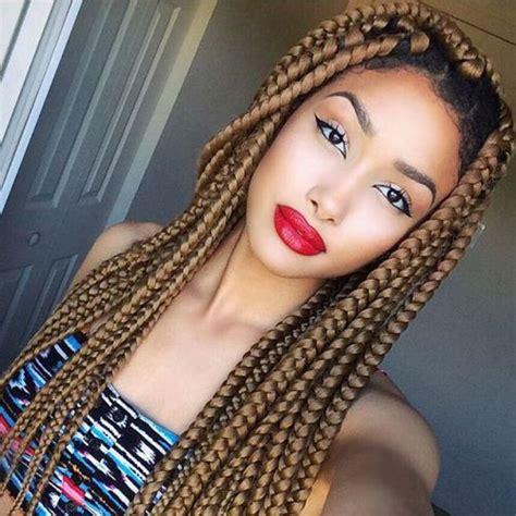 20 epic blonde red burgundy box braids to try 20 eye catching ways to style dookie braids