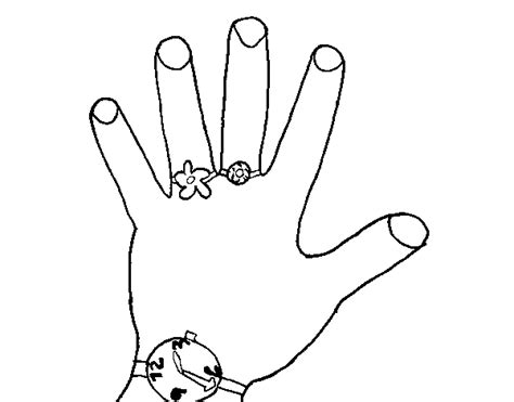coloring pages of hands with nails nail and hand coloring pages