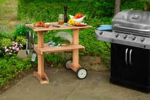 Patio Grill Table How To Build A Rolling Grill Table This House