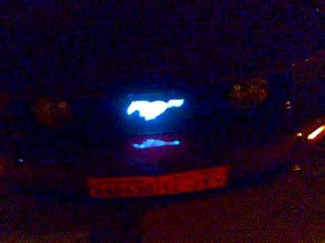 mustang light up pony emblem mustang 2005 modify lighting