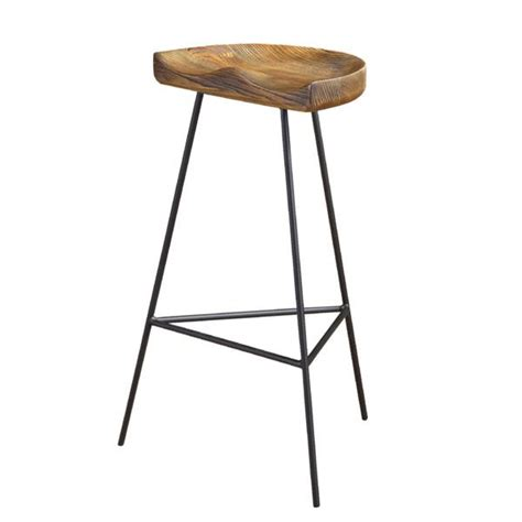 1950s Oak Tractor Seat Stool by Gold Base Bar Stool Products Bookmarks Design
