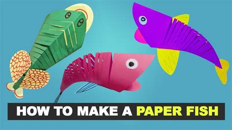 How To Make Fish From Paper - how to make a easy paper fish diy my crafts and diy