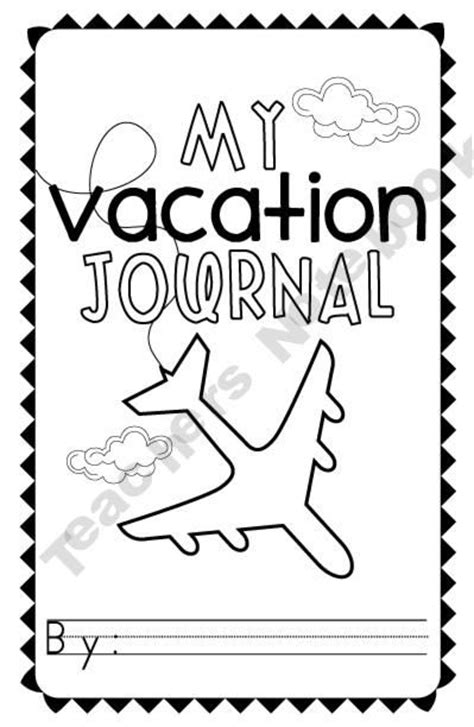 printable vacation journal for students vacation journal travel journals continental kid