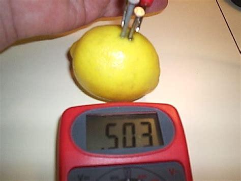 fruit battery lemon battery project how things work