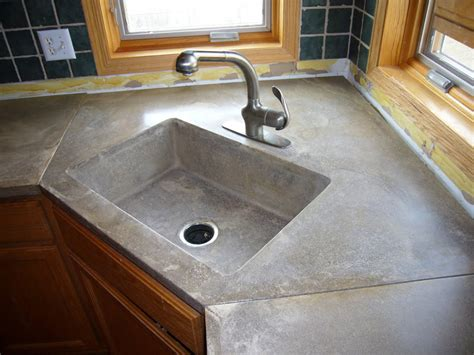 Concrete Countertop With Sink by Concrete Countertops Sinks Minneapolis St Paul Mn Acid Stain Concrete Countertops Sinks