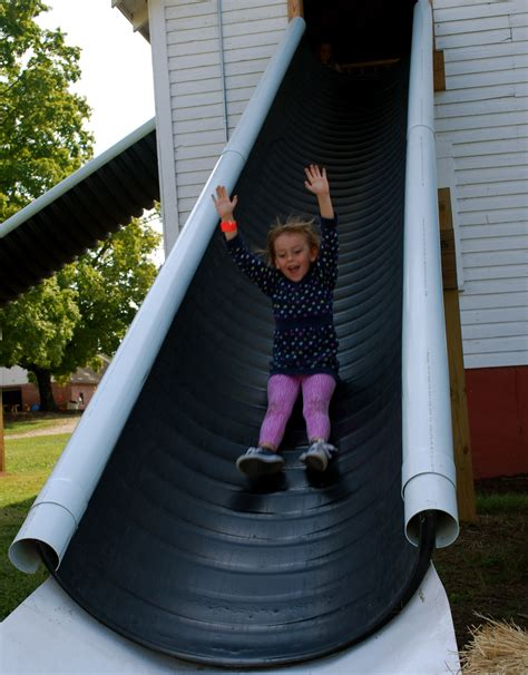cheap slide idea diy pinterest playground backyard