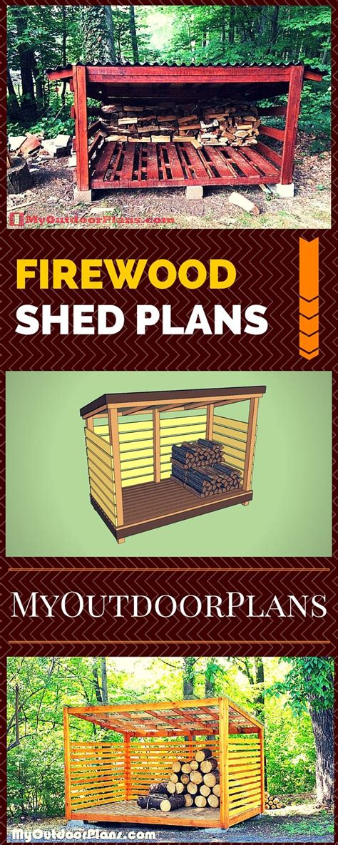 ideas  firewood shed  pinterest wood