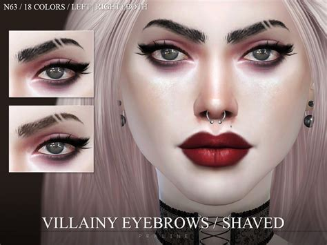 half shaved eyebrows pralinesims villainy eyebrows shaved n63