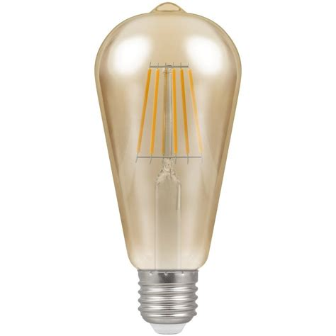 Es Led Light Bulbs Crompton 4252 Led Es E27 7 5w 2200k Vintage Filament St64 Light Bulb Enviro Lights