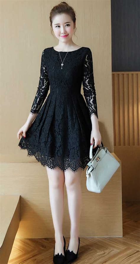 Dress Brokat Premium Import 11 dress brokat premium warna hitam model a line 39a36