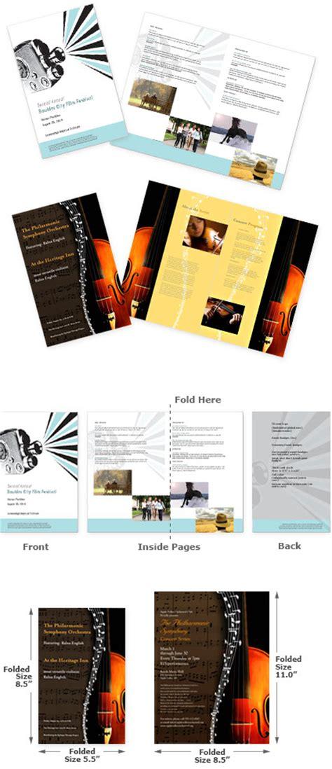 event design school event program printing