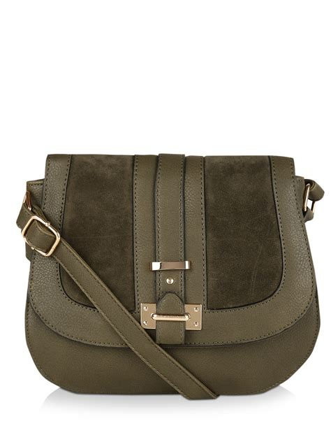 New Look Sling Bag buy new look 70 s suedette panel saddle bag for