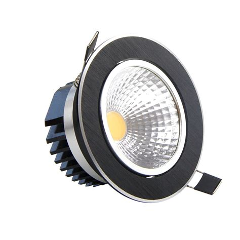 Lu Downlight Led 220v 7w 2 dimmable led cob downlight 5w 7w 9w 12w black led spotlight ceiling recessed downlight for