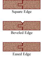 What do ?square edge? , ?bevelled edge? ?tongue and groove