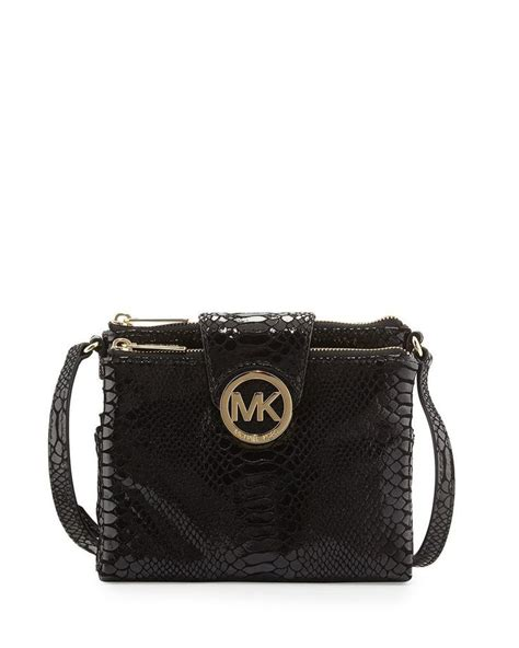 Michael By Michael Kors Ranger Patent Bag by Michael Michael Kors Large Python Embossed Patent Leather