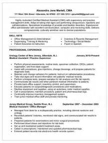 resume for certified assistant resume for