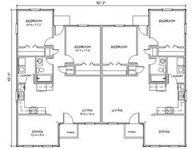 Floor Plans For Duplexes by Duplex House Plan J949d Plansource