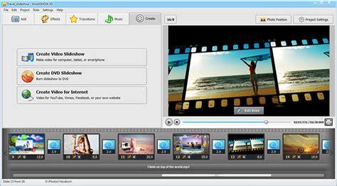 Photo Slideshow Maker Deluxe For Windows slideshow software interface screenshots smartshow 3d