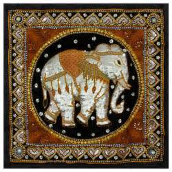 burmese elephant tapestry wall hanging traditional