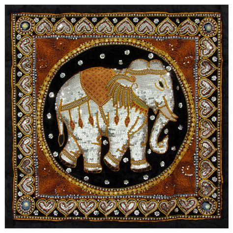 myanmar home decoration burmese elephant tapestry wall hanging traditional