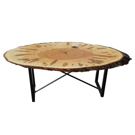 Walnut Live Edge Oval Coffee Table   Amish Live Edge