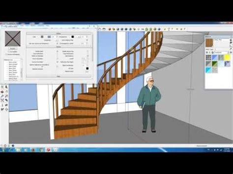 google sketchup stairs tutorial sketchup spiral staircase doovi