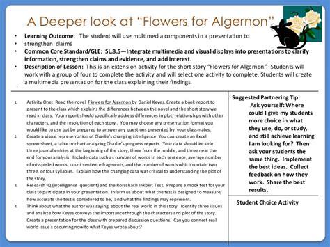 printable flowers for algernon flowers for algernon task card