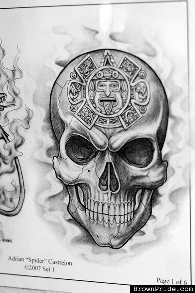 aztec skull tattoos designs 19 unique aztec designs and ideas