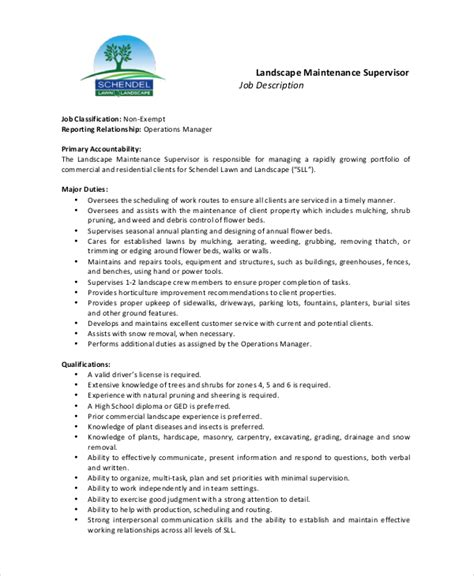 maintenance description 9 free pdf documents