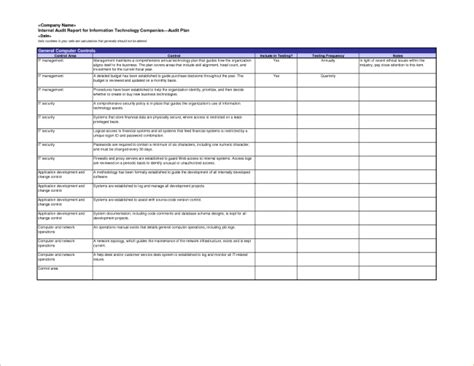 information technology templates excellent audit report format template for