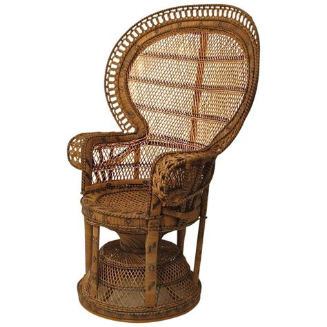Rattan Peacock Chair by Antique Wicker And Rattan Peacock Fan Chair At 1stdibs