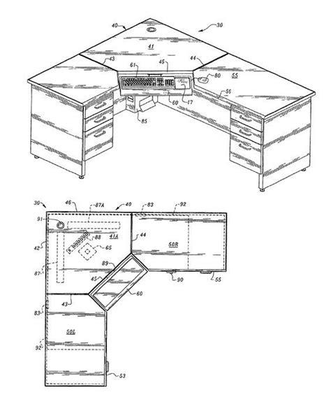 computer desk plans woodwork plans    corner