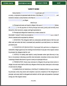 sample surety bond free fillable pdf forms