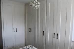 In modern matt finish fitted dressing room rift oak and glass dressing