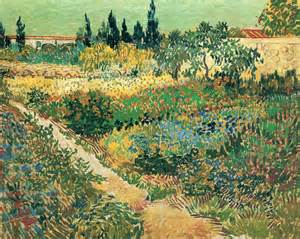garden with flowers vincent van gogh wikiart org