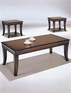 branford 3pc pack cherry wood coffeeend table set coffee
