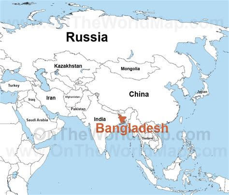 dhaka on world map asia bangladesh map