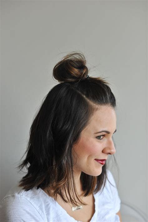 hairstyles for long hair knots how to do a half top knot with short hair short