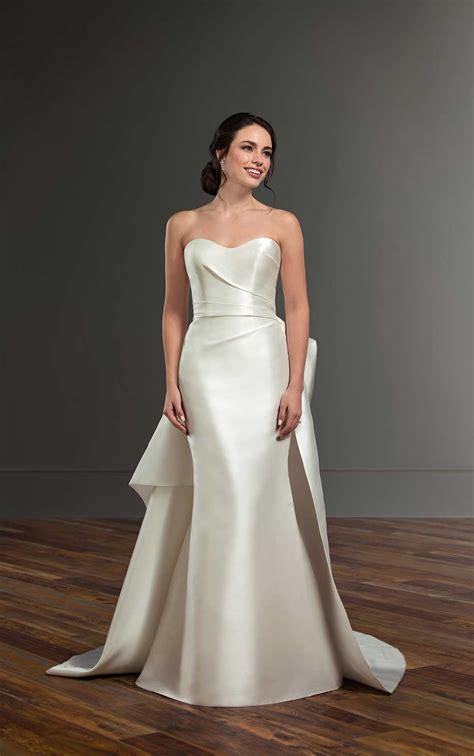 structured silk elegant wedding dress martina liana