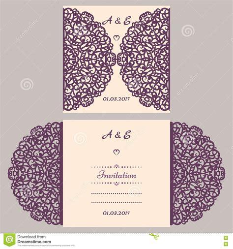 lazercut vector wedding invitation template wedding