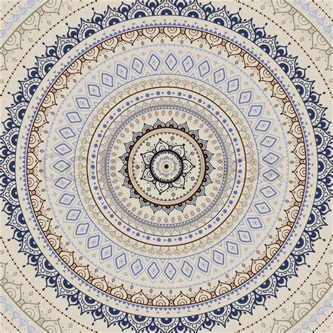 Muster Indisch by Mandala Indische Dekoratives Muster Vektorgrafik