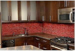 pictures of red tile backsplash in kitchen